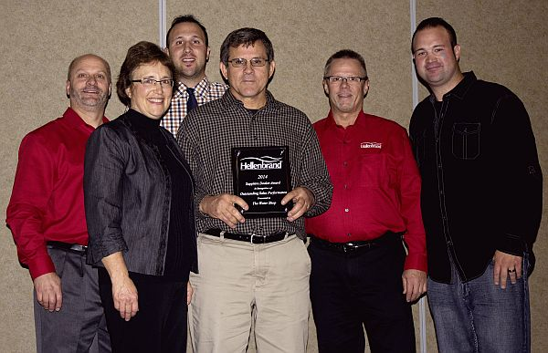 The Water Shop receives Dealers award - here with two Hellenbrand owners, Jeff and Paul Hellenbrand